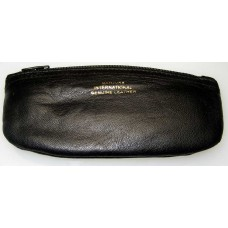 Leather Tobacco Zip Pouch